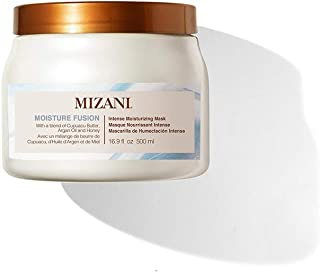 MIZANI Moisture Fusion Intense Moisturizing Mask | Restores Hydration in Dry Curls & Coils| with Argan Oil | for Dry Hair ...