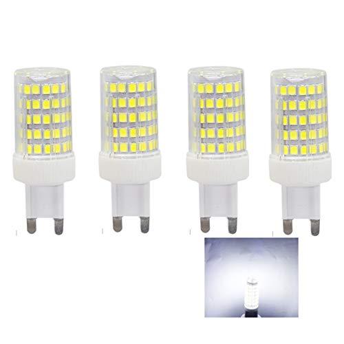 4x G9 LED Lampadine 10W,Lampadina G9 Luce Bianco Freddo 6000K,86 PCS LED SMD 2835,Angolo di Fascio di 360 °,850 Lumen Pari ad Alogene da 80W,Illuminazione G9,niente sfarfallio