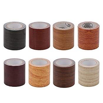 LEJIA 5M/Roll Realistic Woodgrain Repair Adhensive Duct Tape 8 Colors for Furniture- 7# Red Oak