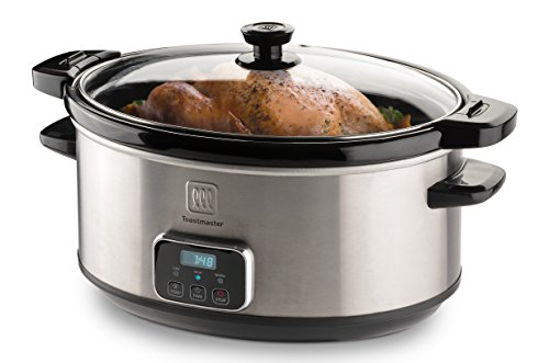 Amazing Deal Toastmaster 7-Quart Oval Digital Slow Cooker with Locking Lid