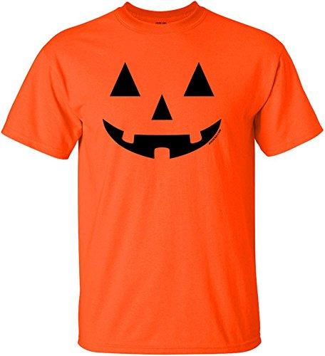 Jack O' Lantern Pumpkin Halloween Costume Orange T-Shirt-XL