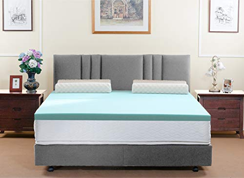 HOFISH Mattress Toppers Twin Gel Infused Memory Foam Pads,Soft Yet Supportive, 3 Inches