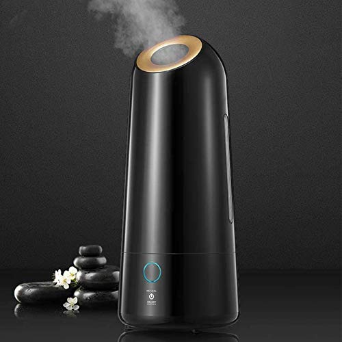iTvanila Cool Mist Humidifier for Large Room, 5L Ultrasonic Bedroom Humidifiers with Humidity, Essential Oil Tray, Smart Sleep Mode, Lasts up to 50H Humidifier for Living Room, Black