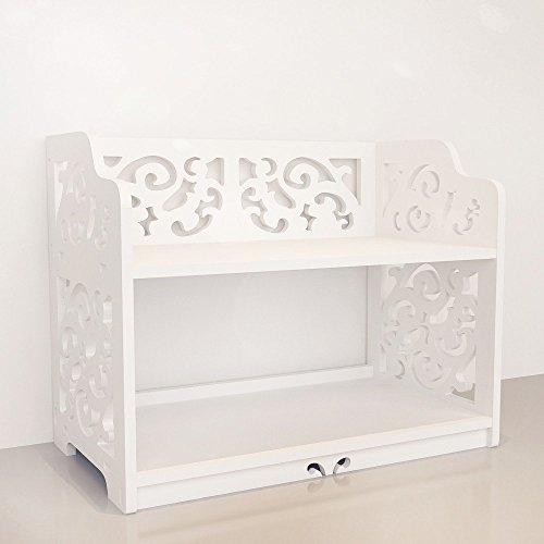 Revesun DIY Multi-Use Wooden Table Ladies Makeup Cosmetics Boxes Bookshelf and Kitchen Shelf White