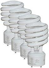 SleekLighting - 23 Watt GU24 Base 2 Prong Light Bulbs- UL Approved CFL Light bulbs-120v 60Hz - Twist Lock Spiral -Self Ballasted CFL gu24 Light Bulb- 3500K- 1600s Neutral White 4 Pack (100 Watt Equ)