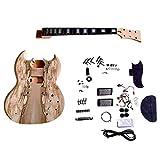GD510 Acajou Col et Corps ÉchaufféÉrable Placage Placage Supérieur Guitare Électrique Kit de Bricolage pour Student & Luthier Projets