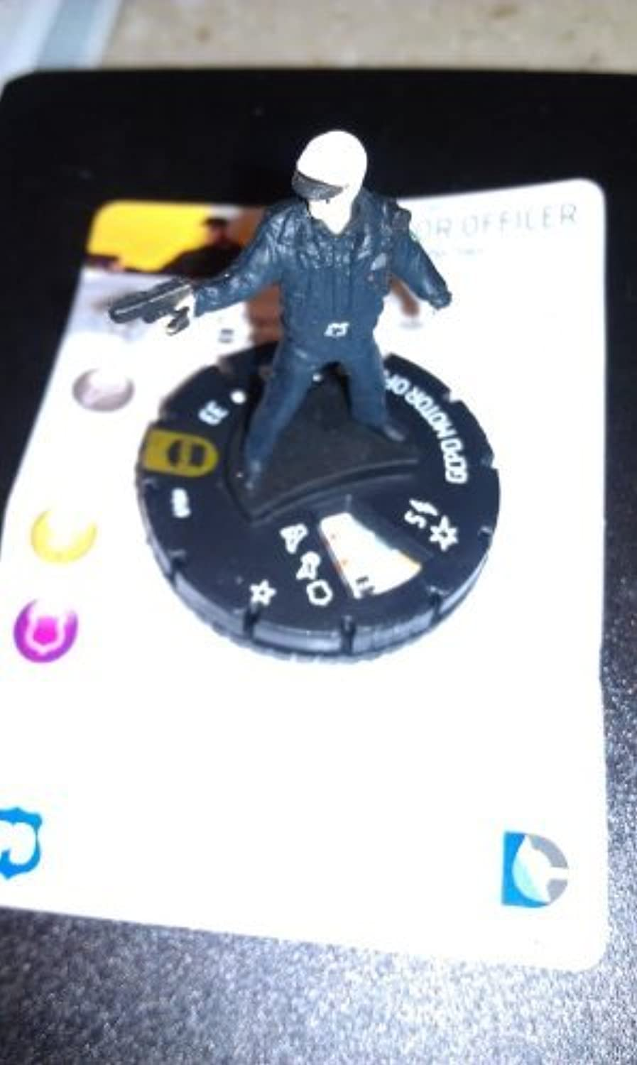 DC Heroclix Batman Streets Of Gotham GCPD Motor Officer Counter Top Ultra Rare. by HeroClix
