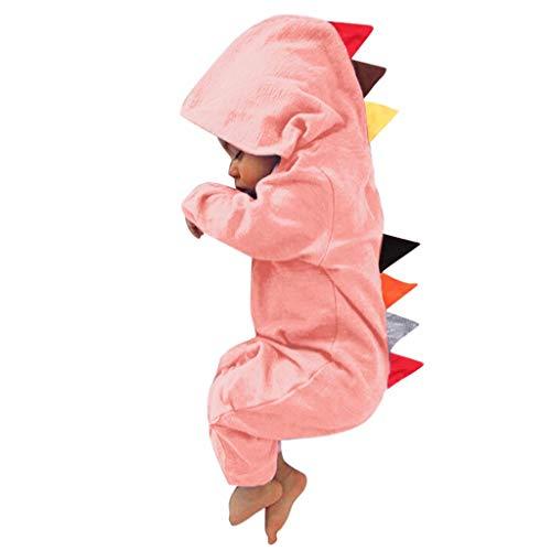 YWLINK Monos para Unisex Bebé ReciéN Nacido NiñOs NiñAs Dinosaurio con Capucha Mameluco Mono Trajes Conjunto Ropa Bebé De 3-24 Meses Ropa Abrigada De OtoñO E Invierno Pijamas
