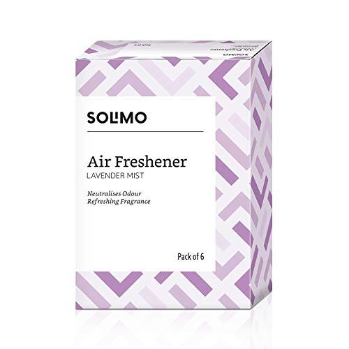 Amazon Brand - Solimo Air Freshener Pocket Lavender Mist, Pack of 6