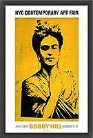 ポスター ボビー ヒル Kahlo 額装品 ウッドベーシックフレーム(ブラック)