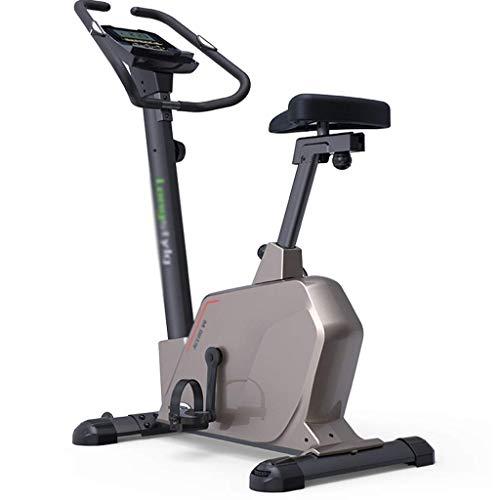MISLD Bicicletas estáticas Home Trainer magnéticamente controlado scooter de bicicleta de spinning de Hogares deportes de interior aparatos de ejercicios en silencio (Color: Marrón, tamaño: 115 * 60 *