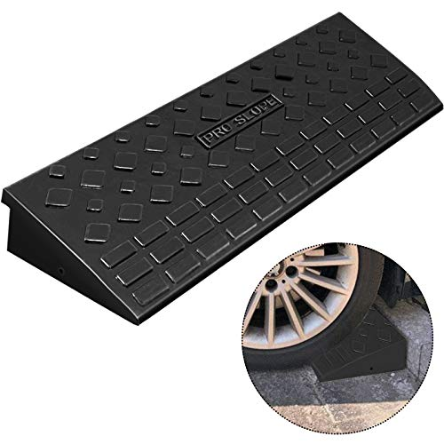 Mophorn Curb Ramp 3.7' Height, 9.8' Width Driveway Ramp for The Curb, Heavy Duty Rubber Curb Ramp, 5 Ton Sidewalk Curb Ramp for Forklifts Trucks Buses