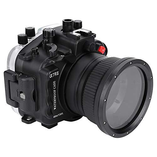 EBTOOLS Unterwassergehäuse Wasserdicht für Sony A7R III,40m Tauch Wasserdichtes Kameragehäuse Objektiv Schutzfolie Cover Kit