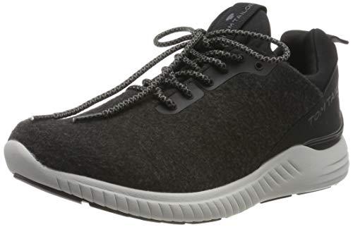 TOM TAILOR Herren 7982004 Sneaker, Schwarz (Black 00001), 42 EU