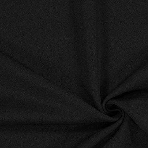 Bi Stretch Gabardine – schwarz — Meterware ab 0,5m — zum Nähen von Businesskleidung, Hosen und Röcke