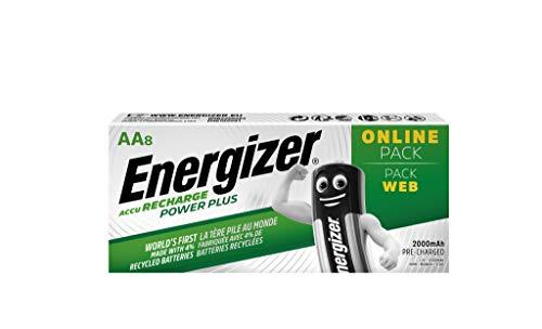 Energizer Piles Rechargeables AA, Recharge Power Plus, Lot de 8