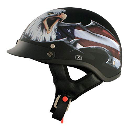 VCAN Cruiser Patriotic Eagle Half Shell Helemt
