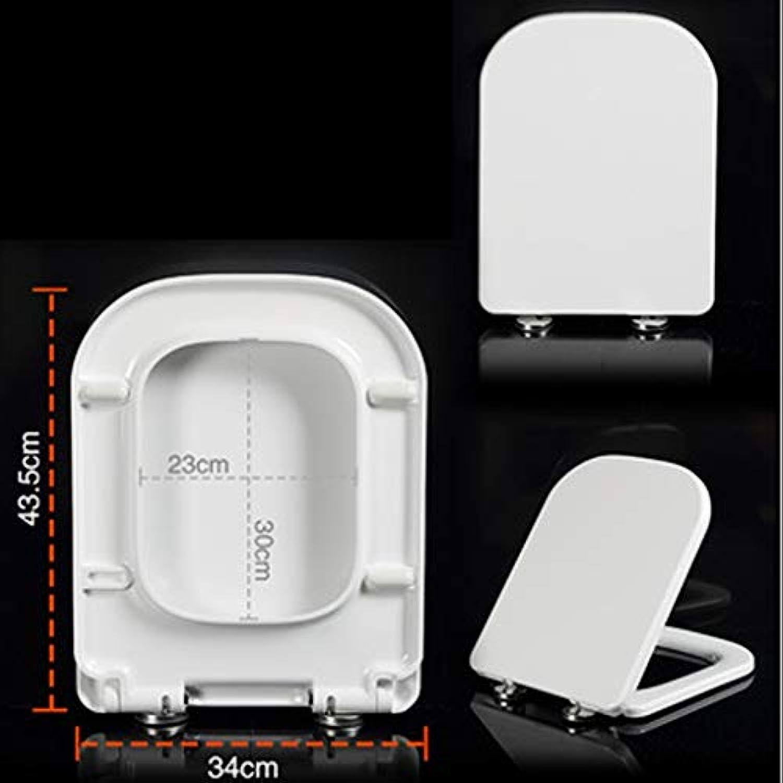 HYYSH Verdickter WC-Deckel Universal groer V-frmiger U-frmiger quadratischer Sitz-WC-Deckel absteigendes WC-Board (gre   34cm43.5cm)