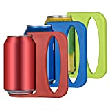 Beer Can Handle, Beer Can Coozie, Beer Can holder,Can Keeper for Beer,Soda Can holder, Plastic Beer Mugs With Handles, Can Handle Grip,Beer Can Stein Set of 3 for 12 Ounce