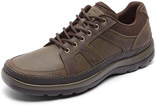 Rockport Men's Get Your Kicks Mudguard Blucher Oxford, Dark Brown Leather, 10 M US