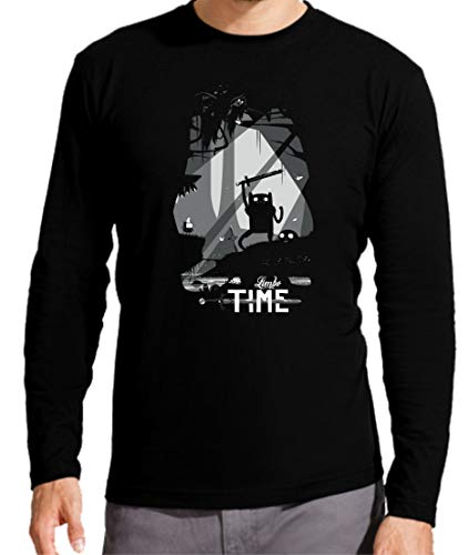 Camiseta Manga Larga de Hombre Hora de Aventuras Jake Finn 013 S