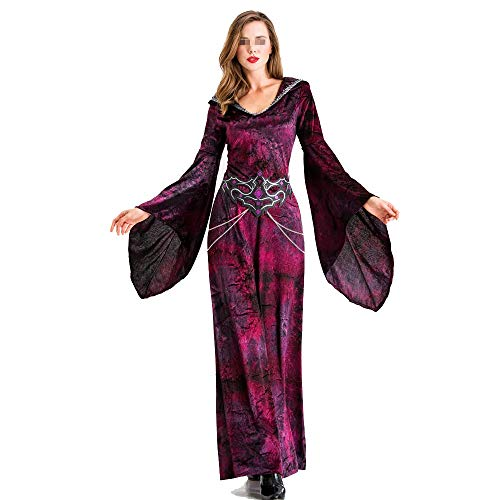 VHGYU Fever Adult Women's Costumes Halloween Witch Dress Up Banshee Spider...