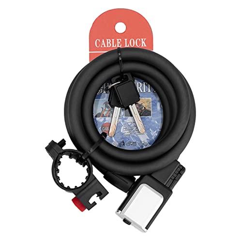 Kinnart Candado de bicicleta Bold Anti-arañazos Bold Bike Lock Cable 1 Set Safe Suit 2