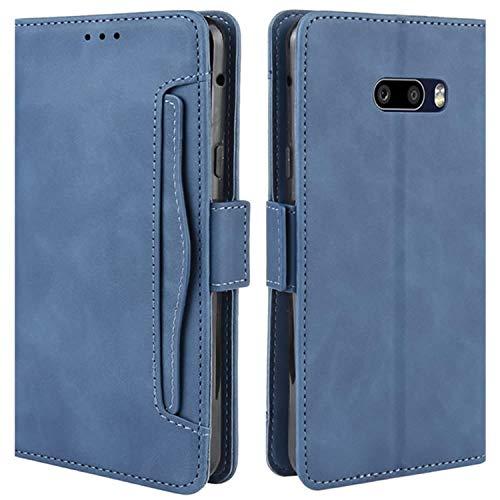 HualuBro Handyhülle für LG G8X ThinQ Hülle, LG V50S ThinQ Hülle Leder, Flip Hülle Cover Stoßfest Klapphülle Handytasche Schutzhülle für LG G8X ThinQ Tasche (Blau)