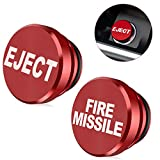 EJECT FIRE MISSILE Button Plug Replacement Cover Aluminum Cigarette Lighter Plug Cover for Most 12V Vehicles Marine (2pcs)