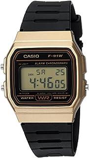 Casio Men's Classic Quartz Watch with Resin Strap, Black, 18 (Model: F-91WM-9ACF)