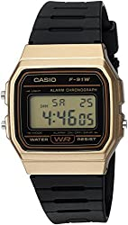 top rated Casio Databank Men's Quartz Resin Watch, Black, 18 (Model: F91WM-9A) 2021