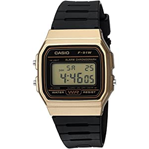 Casio watches Casio Men's Data Bank Quartz Watch with Resin Strap, Black, 18 (Model: F91WM-9A)