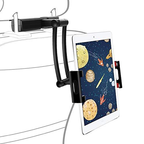 Winload Porta Tablet Auto Poggiatesta, Supporto Poggiatesta Schienale per Tablet da 5.3-10 Pollici, Rotazione a 360 Gradi, Porta Tablet Auto Universale per iPad Pro Mini Air,Phone