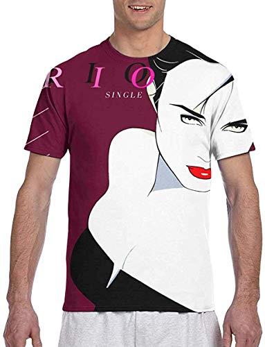 Duran Duran Rio Shirt 3D Print Men's Short Sleeve T Shirts,Black,Medium