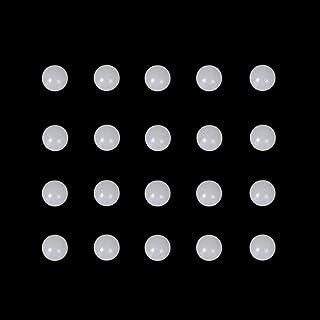 6mm Quartz Balls UV Reactive Green Glowing Pearls in Dark (20 Pack)
