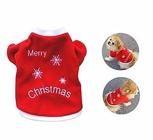 LAAT Vêtements de Noël pour Chien Manteau Habit Chiot Vêtements Pour Les Petites et Moyennes Chien en Noël Rouge