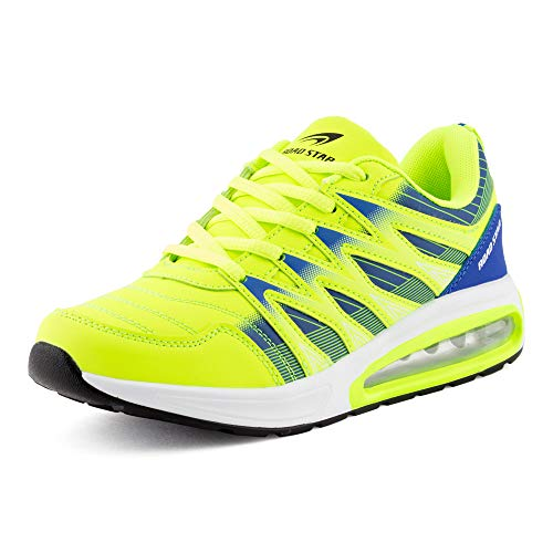 Fusskleidung Herren Damen Sportschuhe Sneaker Dämpfung Laufschuhe Übergröße Neon Jogging Gym Unisex Grün Blau EU 39