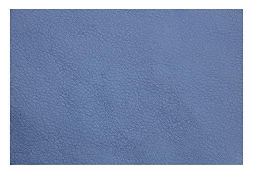 Polipiel por Metros para Tapizar, Manualidades y Forrar. 140 cm Ancho. (Azul, 1 Metro)