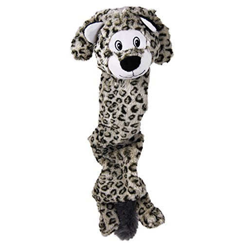 KONG 20874 Stretchezz Jumbo Schneeleopard, Hundespielzeug, XL
