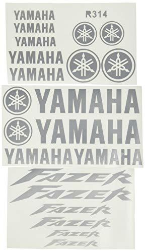 Ecoshirt UC-8I3Y-A14H Pegatinas Fazer R314 Stickers Aufkleber Decals Autocollants Adesivi Moto GP, Plata
