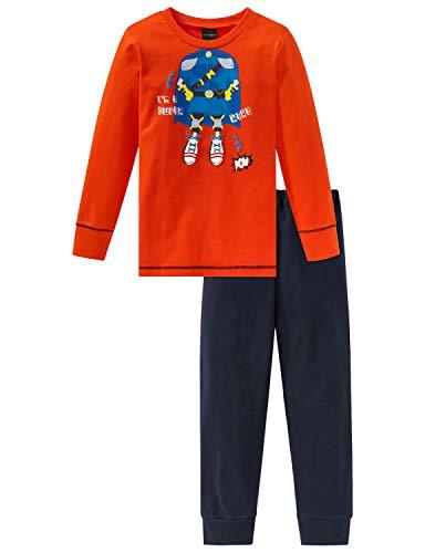 Schiesser Jungen Rat Henry Kn Anzug lang Zweiteiliger Schlafanzug, Gelb (Orange 602), 98 (Herstellergröße: 098)
