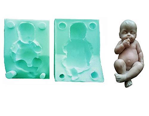 Lovelegis Molde de Silicona para bebé - recién Nacido - Chupete - hágalo Usted Mismo - jabón - Resina - Yeso - Idea de Regalo de cumpleaños - moldes de Silicona - Molde Artesanal