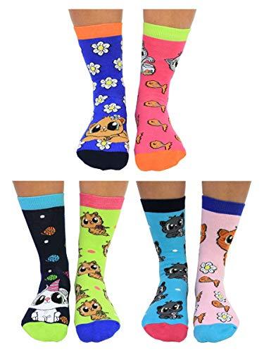 Kätzchen Purrfect Oddsocks Socken in 37-42 im 6er Set - Strumpf