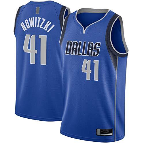 Dirk Sports Nowitzki T-Shirt Dallas Bekleidung Mavericks Basketball Trikot #41 Swingman Jersey Royal - Icon Edition-L