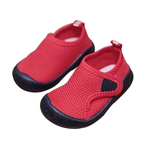 DEBAIJIA Zapatos para Niños 0-3T Bebés Caminata Zapatillas Color Sólido Malla Antideslizante Transpirable Ligero EVA Material Niños Niñas