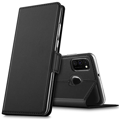 GEEMAI für Samsung Galaxy M30s Hülle, für Samsung Galaxy M21 Hülle, handyhüllen Flip Hülle Wallet Stylish mit Standfunktion & Magnetisch PU Tasche Schutzhülle passt für Samsung Galaxy M30s, Schwarz