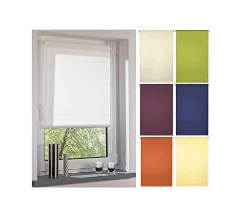 Garduna FIX Tageslicht-Rollo # Weiss 80cm # Smartfix - Klemmfix - ohne Bohren - viele Farben & Größen- lichtdurchlässig/Sichtschutz