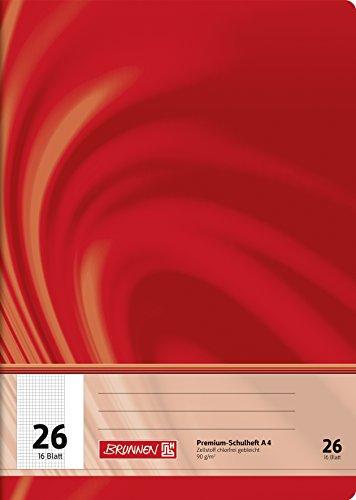 Brunnen 104472602 Schulheft A4 Vivendi (16 Blatt, 5 mm kariert, mit Rand, Lineatur 26)
