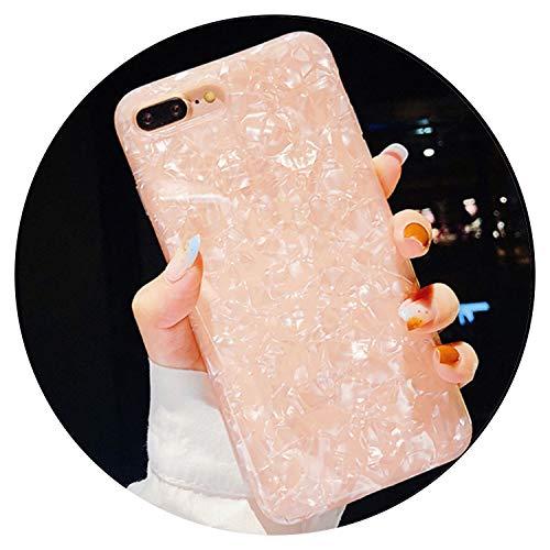 Carcasa para iPhone XS XR XS Max X 8 7 6 6S Plus TPU suave silicona trasera color puro, compatible con Apple iPhone 5 Apple iPhone 5S (fabricado en Silicona. TPU), color rosa