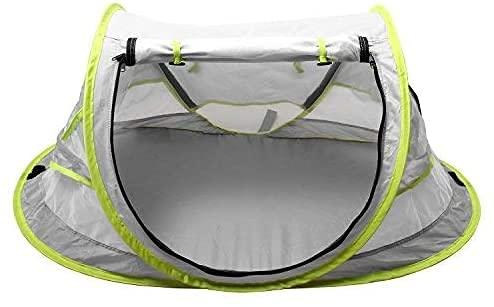 Tumbona de camping, tienda de sol Pop Up Tent Mosquitera para cuna Capota Ajustable Colchón (Anti-fugas) Fácil de montar Plegable Portátil